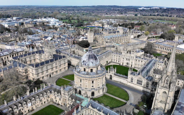 Drone shot of Oxford