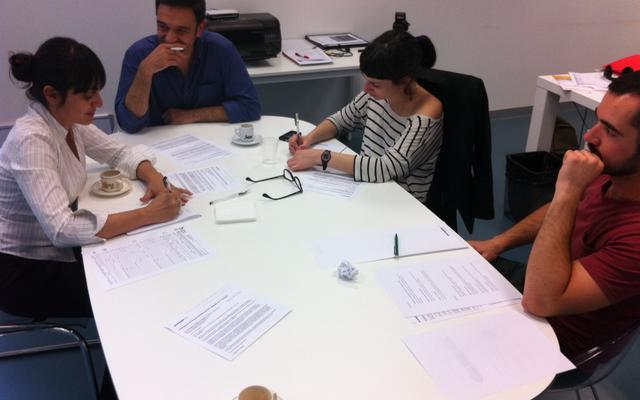sandra and claro team working