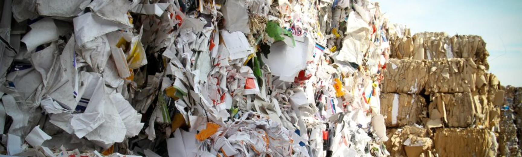 pile of rubbish on landfill site
