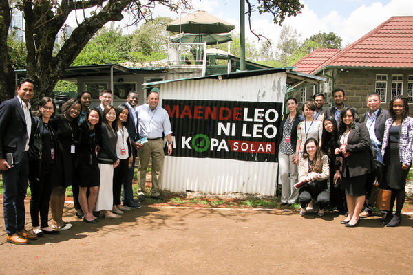 MBA group photo with Chad Larson