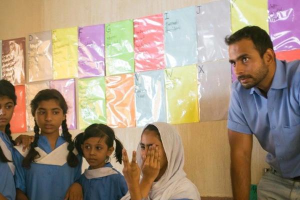 Mohsin Mustafa in action