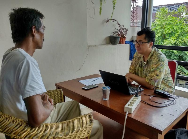 LD enumerator interviewing TNF investee