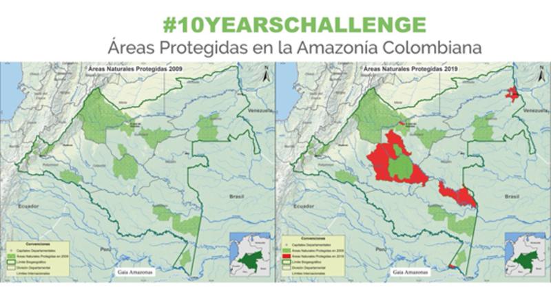 #10YearsChallenge Areas Protegidas en la Amazonia Colombiana