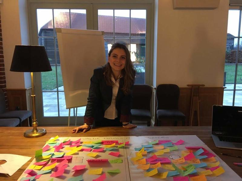 Daniela pictured while doing a value proposition workshop for the wine producer team