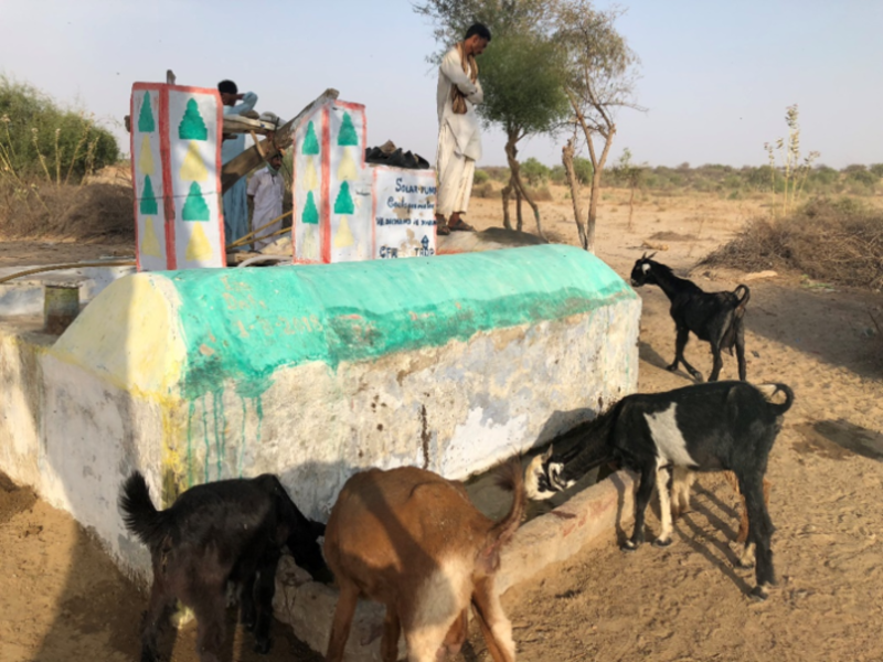 Solar powered water system in Pakistan