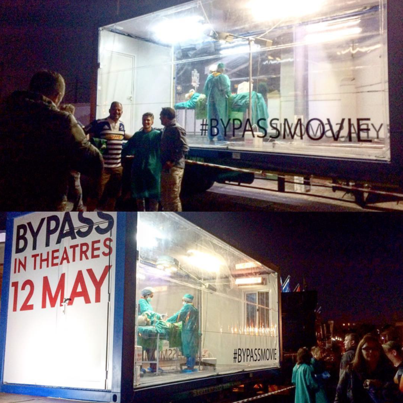 image of a truck from movie campaign launch for Bypass containing an operating table.